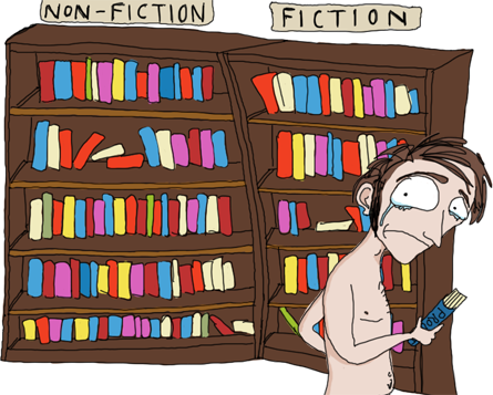 You are naked between non-fiction and fiction