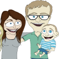 caricature-dave-s-family