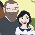 caricature-sofia-g-family